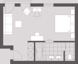 Sketch Double Room Deluxe