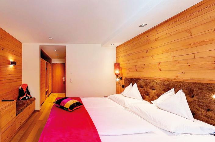 Doppelzimmer Komfort Garten - Schlafbereich