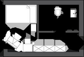 Sketch single room comfort