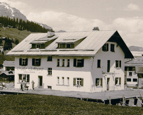 History - the Cafe Gotthard back then