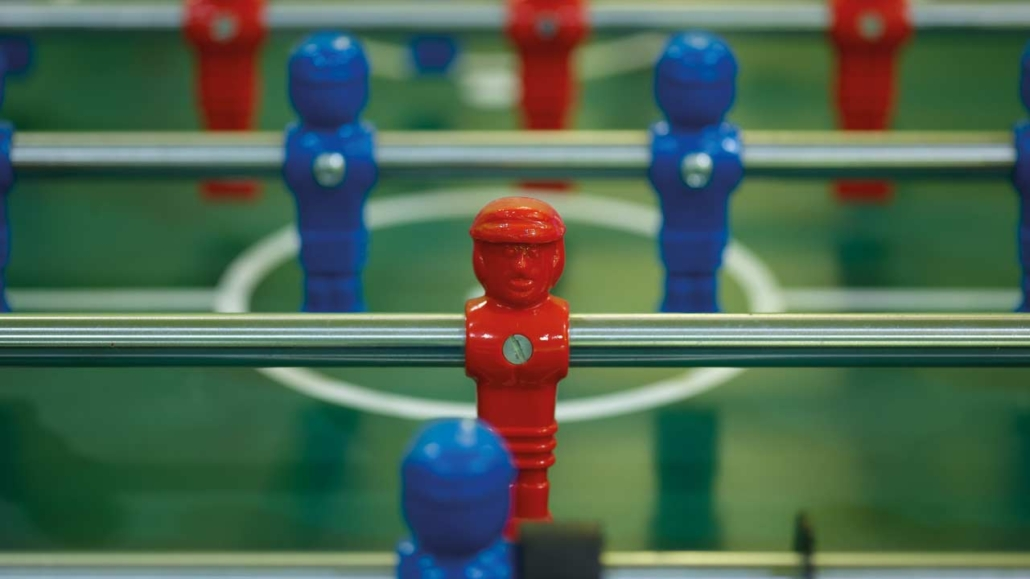 Table football in the Hotel Gotthard