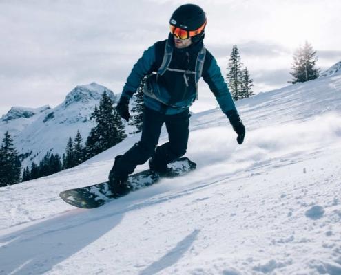 Snowboarden in Lech Zürs