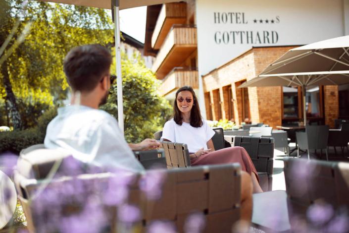 Sonnenterrasse des Hotel Gotthards