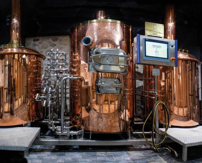 Biertanks für das Omes Bier